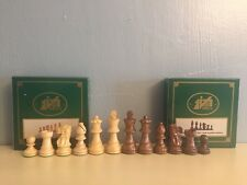 Italfama NIB Chess Men Golden Rosewood RARE! King Ht 7.6 cm. Vintage