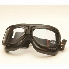 Glasses Goggle Aviator Old Style Black Motorbike vintage motorcycles