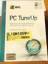 AVG PC TUNEUP 2013 3 PCs 1 YEAR 6 MOs LOJACK + ANTIVIRUS FOR ANDROID DEVICE NEW