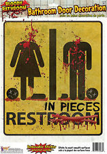 HALLOWEEN HORROR BLOODY UNRESTROOM #BATHROOM DOOR SIGN DECORATION FANCY DRESS