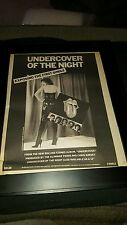 Rolling Stones Undercover Of The Night Rare Original Promo Poster Ad Framed!