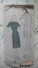 Vintage NEW YORK PATTERN CO Ladies' Front Closing Dress, Sz 16/34, #812