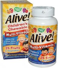 Nature's Way, Alive! Niños Multivitamínico, 120 Tabletas Masticables