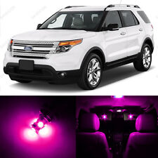 6 x Pink/Purple LED Interior Light Package For 2011 - 2014 Ford Explorer