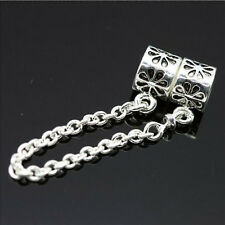 Hot Silver Charm Alloy Chain Bead Safety Chain Bead Fit Bracelet Jewelry Making