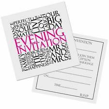MRS and MRS Same Sex Lesbian Wedding Evening Invitation Card 10pk FREE POST