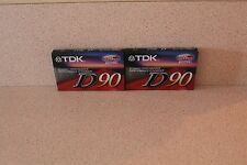 Lot of 2 TDK D90 NEW & SEALED IECI/Type I High output cassette