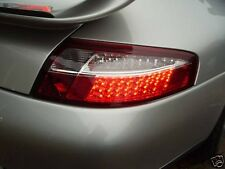 99-04 Porsche 911 996 Carrera Clear-RED LED Tail Light Lamp Clear Turn-Signal