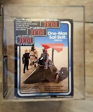 MISB Tri Logo Sail Skiff Made in Spain UKG 75% Kenner Vintage Star Wars