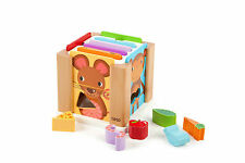 NEW Animal Sorting Cube - Wooden shape sorting toy 25 pieces - TIDLO John Crane