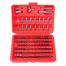 "100Pcs 1/4"" Torx Hex Torq Security Bit Set Tamper Proof Case Screwdrivers Bits"