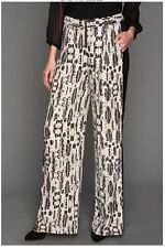 NEW BCBG MAX AZRIA BLACK COMBO RASHA TROUSER PAINTS EKE2E690/B453W SZ M