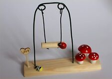 Fairy Garden Swing Fairy Garden, Dolls House Miniature Accessory