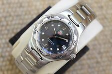 Tag Heuer Blue Kirium Watch Mens WL1113.BA0701 Professional Mint Crystal SS $2K