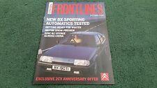 Oct 1988 CITROEN FRONTLINES Magazine - 40 YEARS 2CV6 ACTIVA AX BX - UK BROCHURE
