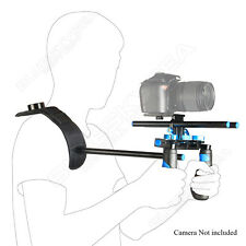 Camera Camcorder DSLR Stabilizer Shoulder Mount Support Rig Kit w/ Dual Handgrip