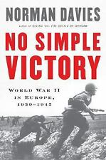 No Simple Victory: World War II in Europe-ExLibrary