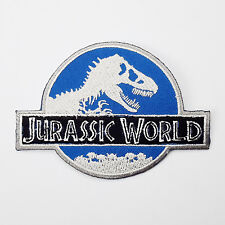 """JURASSIC WORLD (Jurassic Park) Prop Embroidered Iron-On Logo Patch - NEW - 4.25"""""""