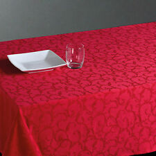 Nappe anti-tâche rectangulaire Jacquard 140 x 240 cm Rouge  Décoration de Table