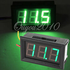 3 Wire Mini Green LED DC 0-99.9V Digital Volt Voltage Pane Meter Voltmeter NEW