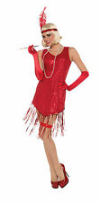 Adult Sexy Roaring 20's Sequin Red Gatsby Flapper Jazz Dress Costume