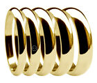 9ct Yellow Gold D Shaped Wedding Rings Heavy 2mm 2.5mm 3mm 4mm 5mm 6mm 375 UK HM