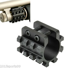 5 Position Barrel Mount Tri-Rail Weaver Mount For Laser Flashlight Shotgun Tube
