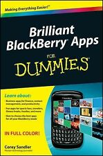 NEW - Brilliant BlackBerry Apps For Dummies by Sandler, Corey