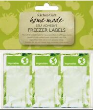 60 DECORATIVE FREEZER LABELS for Bags & Containers...