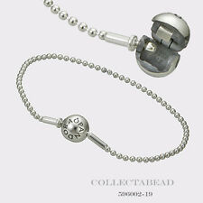 "Authentic Pandora Essence Collection Beaded Silver Clasp Bracelet 7.1""  596002"