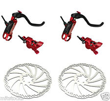 Bengal Helix 4X Bike Bicycle Hydraulic Disc Brakes 203mm F & R Complete sets Red