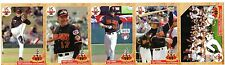 Rochester Red Wings Uncut Strip; Shouse, Foley, Laker, Forbes & Team Card