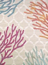"5x8 (5'3"" x 7'2"") Tropical Coastal Beach Sea Coral Area Rug"