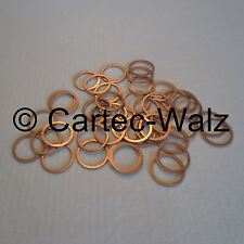 25 PIECES Copper rings Seal Gaskets cu 1 5/16x1 1/2x0 1/16in DIN 7603 Form A