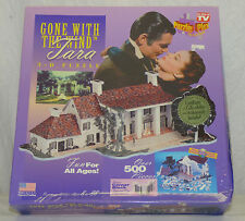 1994 Sealed Unopened Puzzle Plex Gone with Wind Tara 3-D House 500 Pc Puzzle New