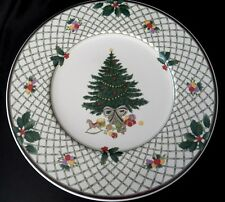 """MIKASA HERITAGE CHRISTMAS STORY ROUND CHOP PLATE SERVING PLATTER 12 3/4"""""""