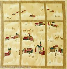 Adventskalender Stof A/S Gold Panel Stoffe Patchwork Weihnachtsstoffe 60cmx110cm