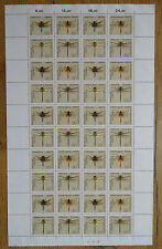 Federal 1546 - 1549 arco recién postal juntos impresiones libélulas