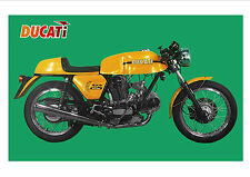 DUCATI Poster 750  Sport 1972 1973 1974 1975 1976 1977 1978 Suitable to Frame