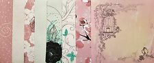ASSORTED BACKING PAPERS 6 X 6 SAMPLE PACK  FLORAL DESIGN 1 SHEET OF EACH DESIGN