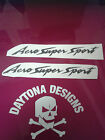 AERO SUPER SPORT THUNDERACE BLACK CUSTOM DECALS STICKERS GRAPHICS