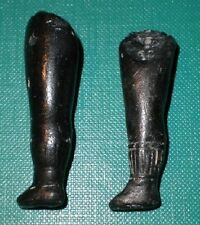 "antique legs for dollhouse doll wire fixing 1.82"" dark coloured"