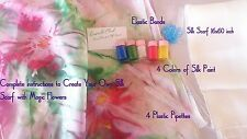 Craft kit for silk painting. all for creat your own unique large silk scarf.