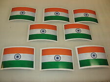 8 INDIA modern FLAG Sticker Decal LOT 4 car Window Truck suv Wholesale Indian