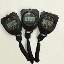 Sports Stopwatch Stop Watch LCD Digital Professional Chronograph Timer Counter