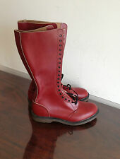 "SKINHEAD ""Astronaut"" Hawkins oxblood boots UK 9 20 hole Never worn VERY RARE!!!!"
