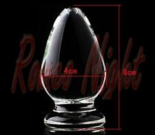 Crystal Penis Glass Dildos,Anal High Quality - 8cm x 4cm - Réf 6 - Free Shipping