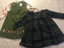 Girls Lot 18-24 Months Dresses Baby Gap Gymboree Green Plaid Corduroy