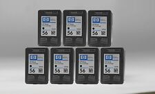 7 pk HP 56 Ink Cartridge Black C6656AN for OfficeJet 5605 5610 6105 6110