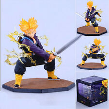 Dragon Ball Z Super Saiyan Trunks Battle Version Action Figure Model Toy